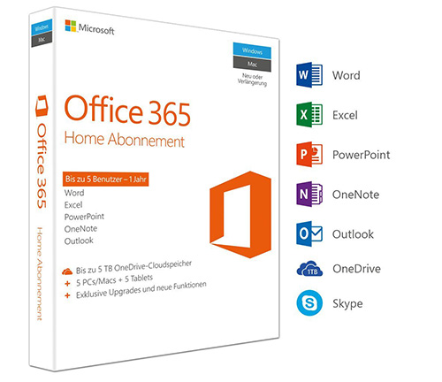 Produktabbildung der Retail-Box von Microsoft Office 365